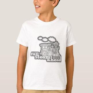 Full steam ahead loco train orange kids t-shirt