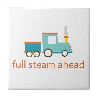 Full Steam Ahead Ceramic Tile