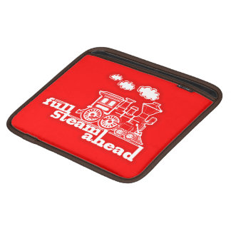 Full steam ahead train red ipad sleeve