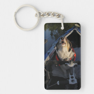 Full Stop! Double-Sided Rectangular Acrylic Keychain