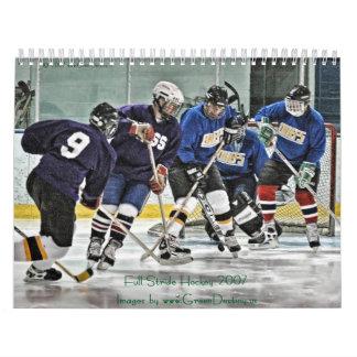 Full Stride Hockey 2007 Calendar
