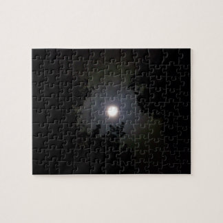 Full Supermoon In The Mist Jigsaw Puzzles