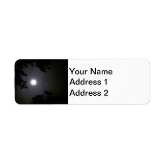Full Supermoon In The Mist Return Address Label