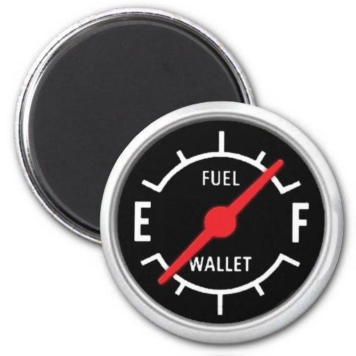 Full tank, Empty wallet 2 Inch Round Magnet