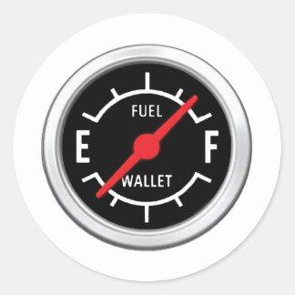Full tank, Empty wallet Round Stickers