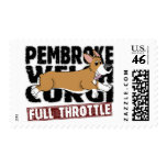 Full Throttle Corgi Postage Stamps
