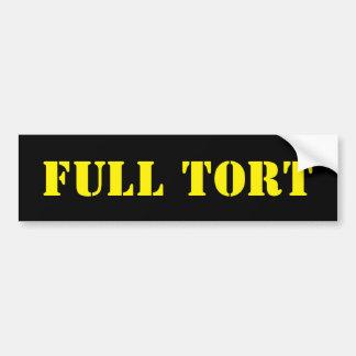 Full Tort Bumper Sticker