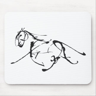 Full trot ahead mouse pad