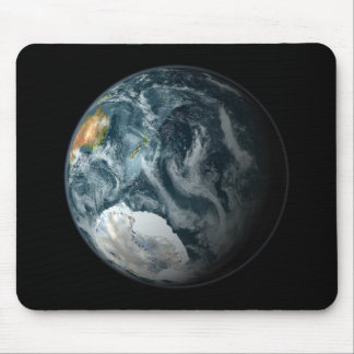 Full view of the Earth highlighting Antarctica Mouse Pad