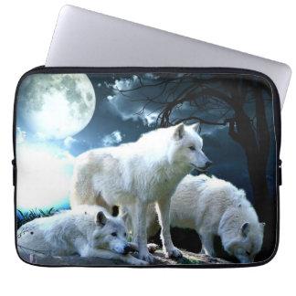 Full Wolf Moon Laptop Sleeve