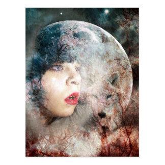 Full Wolfs Moon Rising Postcard