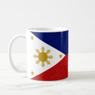 Full-wrap Philippines Glitter Flag Coffee Mug