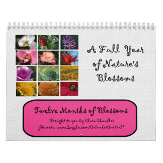 Full Year of Nature's Blossoms Calendar