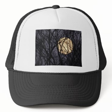 Halloween Themed Full Yellow Moon Trucker Hat