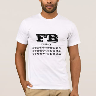 Fullback jersey numbers T-Shirt