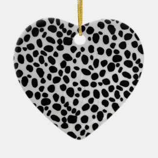 Fullbreed Custom Giraffe prints black and white Ceramic Ornament