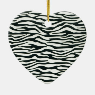 Fullbreed Custom Zebra Print Ceramic Ornament