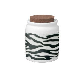 Fullbreed Custom Zebra Skin Candy Jar