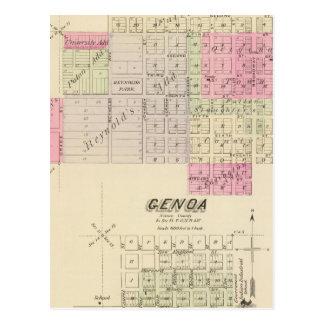Fullerton and Genoa, Nebraska Postcard