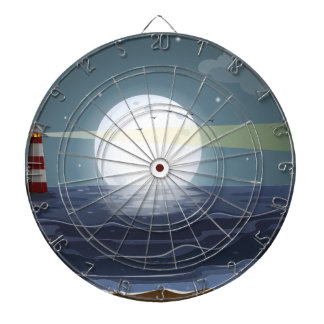 Fullmoon and beach dartboards