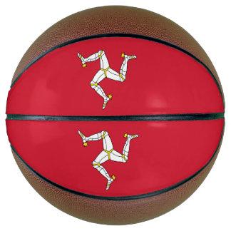 Fullsize Basketball with Isle of Man Flag, UK