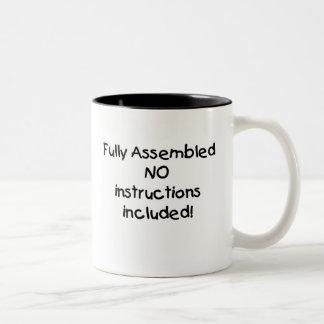FULLY ASSEMBLED Two-Tone COFFEE MUG