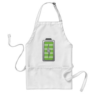 Fully Charged Battery Adult Apron