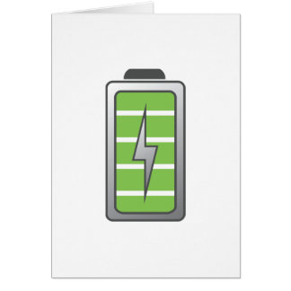 Fully Charged Battery Card