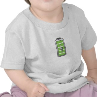 Fully Charged Battery shirt