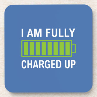 Fully Charged Beverage Coaster