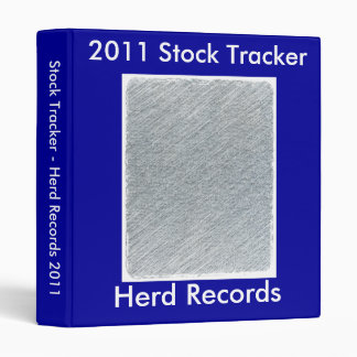 Fully custom Herd Record binder for animals