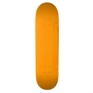 Fully Customizable Bright Orange Skateboard Deck