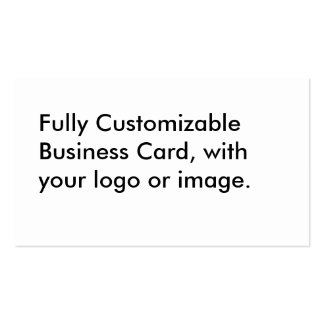 Fully Customizable Business Card, Template