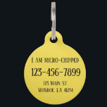 """Fully Customizable Dog Tag<br><div class=""""desc"""">Change the info and background color to anything you need</div>"""