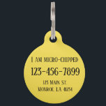 "Fully Customizable Dog Tag<br><div class=""desc"">Change the info and background color to anything you need</div>"
