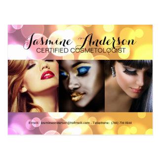 Fully Customizable Makeup Artist Comp Card Postcards