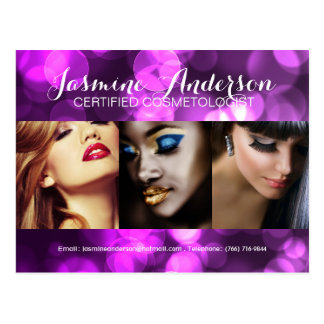 Fully Customizable Makeup Artist Comp Card Post Cards