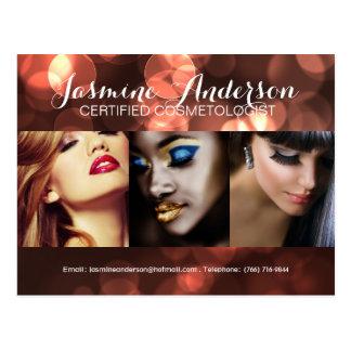 Fully Customizable Makeup Artist Comp Card Post Card