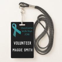Fully Customizable Ovarian Cancer badge