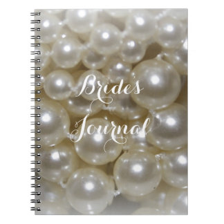 Fully Customizable Pearl Background Brides Journal