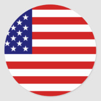 Fully Customizable US Flag Items Classic Round Sticker