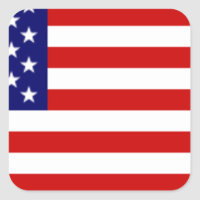 Fully Customizable US Flag Items Square Sticker