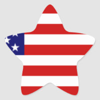 Fully Customizable US Flag Items Star Sticker