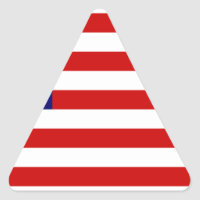 Fully Customizable US Flag Items Triangle Sticker