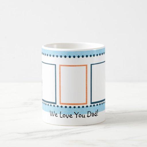 fully customizeable blue & orange photo mug