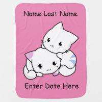 Fully Customized Kitten Baby Blanket