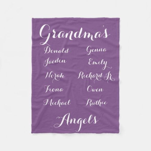 Fully Cutomizable Grandkids blanket