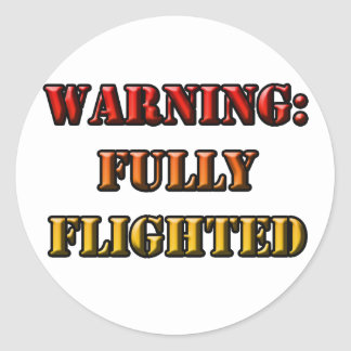 Fully Flighted Classic Round Sticker