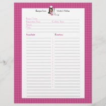 Fully Illustrated Recipe Page Custom Letterhead