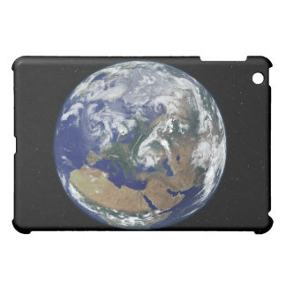 Fully lit Earth centered on Europe iPad Mini Cases